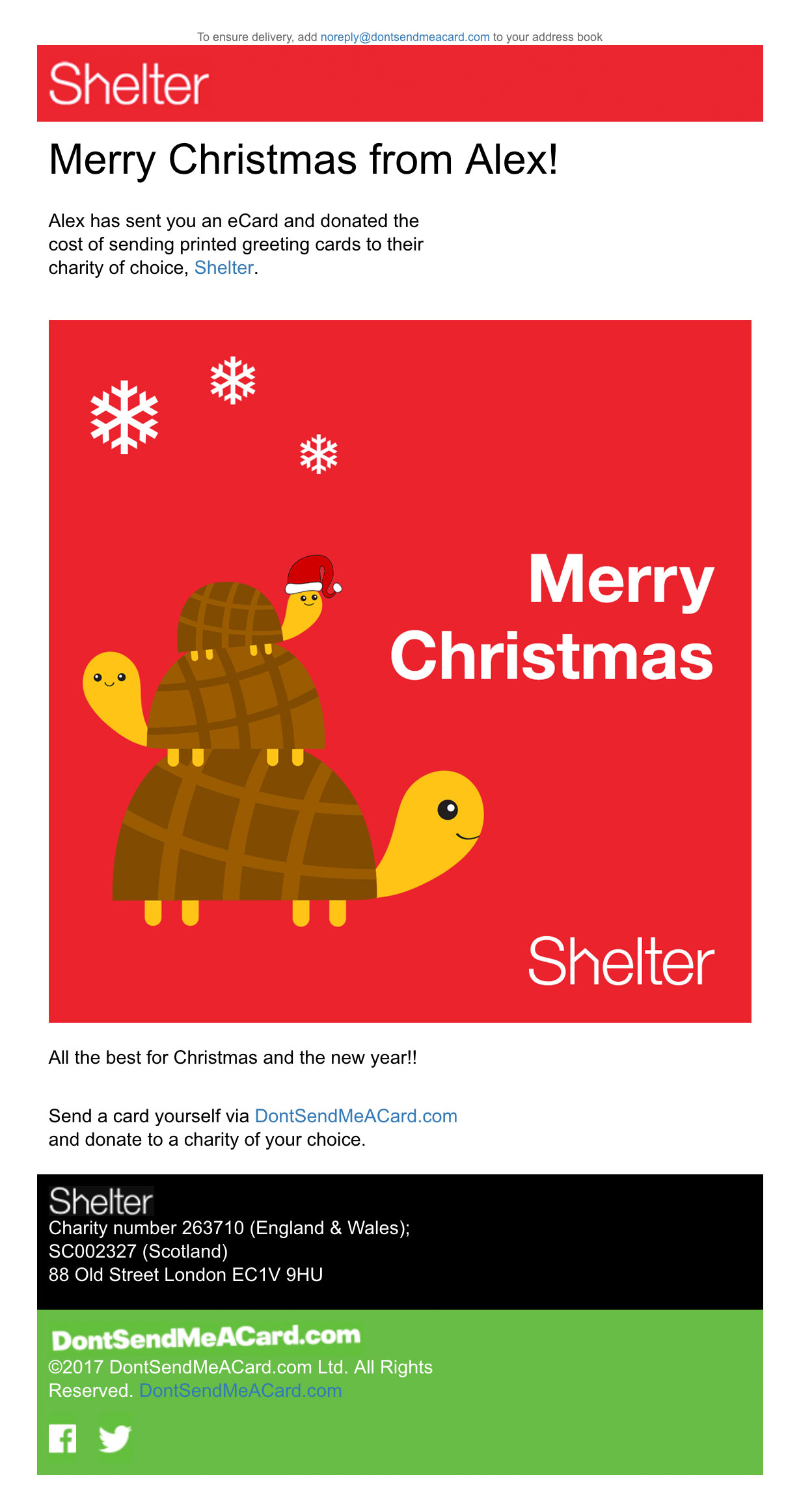 Shelter charity case study